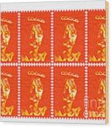 Stamps Wood Print