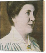 Laura Ingalls Wilder (1867-1957) Wood Print