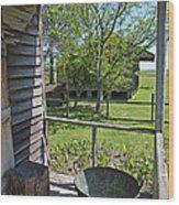 Laura Plantation Slaves Porch Wood Print