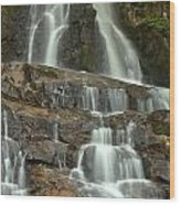 Laurel Falls Cascades Wood Print