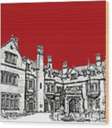 Laurel Hall In Red Wood Print