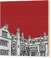 Laurel Hall In Red -portrait- Wood Print