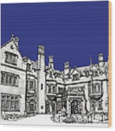 Laurel Hall In Royal Blue Wood Print