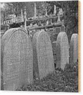 Laurel Hill Headstones Wood Print