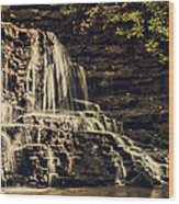 Laurel Run Falls Wood Print