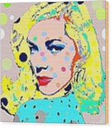 Lauren Bacall Wood Print by Ricky Sencion