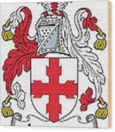 Laurence Coat Of Arms Irish Wood Print