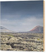 Lava Flows Lanzarote Wood Print