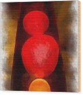 Lava Lamp Photo Art 04 Wood Print