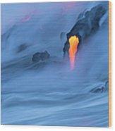 Lava Ocean Entry Wood Print