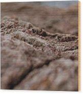 Lava Rock Landscape II Wood Print