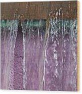 Lavendar Falls Wood Print
