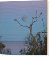 Lavendar Moon Wood Print