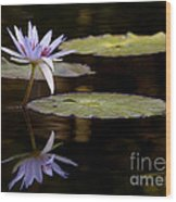Lavendar Reflections In The Lake Wood Print