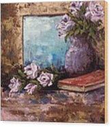 Lavendar Roses Wood Print