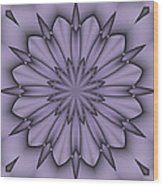 Lavender Abstract Flower Wood Print