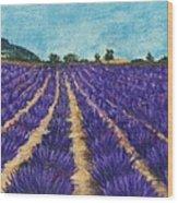 Lavender Afternoon Wood Print