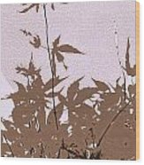 Lavender And Taupe Haiku Wood Print