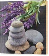 Lavender Aromatherapy Wood Print