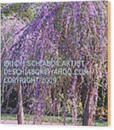 Lavender Butterfly Bush Wood Print