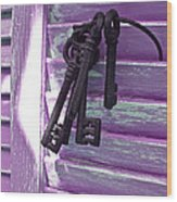 Lavender Cottage Keys Wood Print