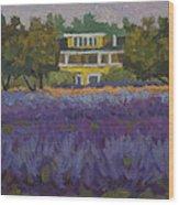 Lavender Farm On Vashon Island Wood Print
