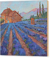 Lavender Field Provence Wood Print