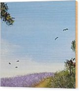 Lavender Fields Wood Print