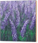 Lavender Garden II Wood Print