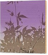 Purple Haiku Wood Print
