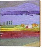 Lavender Hills Wood Print