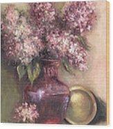 Lavender Hydrangeas Wood Print