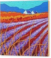 Lavender Meadow Wood Print