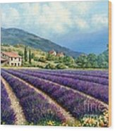 Lavender Wood Print by Michael Swanson