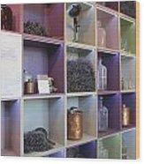 Lavender Museum Shop Wood Print