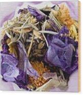 Lavender Potpourri Wood Print