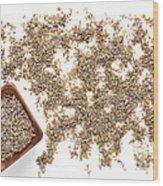 Lavender Seeds Wood Print
