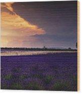 Lavender Thunderstorm Wood Print
