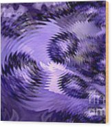 Lavender Water Abstract Wood Print