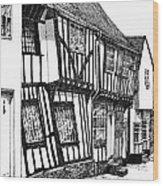 Lavenham Timber Wood Print