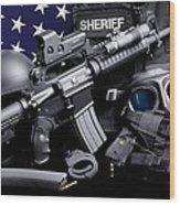 Law Enforcement Tactical Sheriff Wood Print