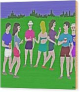 Lawn Party  Wood Print