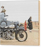 Lawrence Of Arabia Display At The Goodwood Revival Meeting Wood Print