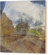 Lawrence Union Pacific Depot Wood Print