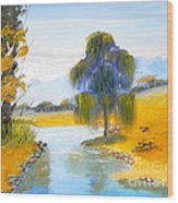 Lawson River Wood Print