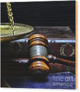Lawyer - Books Of Justice Wood Print