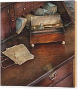 Lawyer - Important Documents  Wood Print by Mike Savad