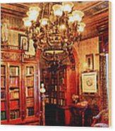 Lawyer - In The Library Wood Print