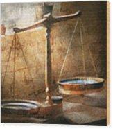 Lawyer - Scale - Balanced Law Wood Print