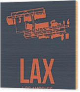 Lax Airport Poster 3 Wood Print